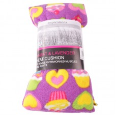Hearts and Cupcakes Lavender and Wheat Microwave Heat Cushion