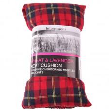 Red Tartan Lavender and Wheat Microwave Heat Cushion