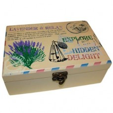 Aromatherapy Oil Box Lavender Design for 24 Bottles